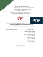 Propuesta Para Optimizar Los Ingresos Por Conceptos Del Impuesto Sobre Actividades Economicas en La Administracion Tributaria Del Municipio Valdez.