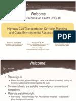 Public meeting information Highway 7 & 8 corridor study July 23 2013