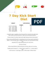 7 Day Kick Start Diet