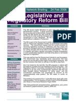 Legislative and Regulatory Reform Bill