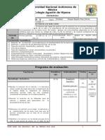 Plan y Programa de Eval Biologia v a-II 1p 2013-2014