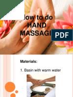 Demo of Hand Massage