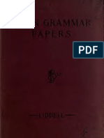 Latin Grammar Papers Arranged With Vocabulary