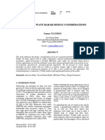 Millimeter Wave Radar Design Considerations