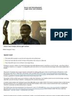 Voice Tech Helps Africa Get Online