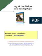 Salon Coloring Book