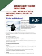 RESUELVES LAS OBJECIONES Y VENDERAS SIN NECESIDAD DE VENDER