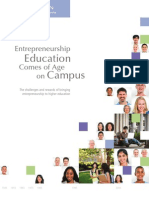 Entrepreneurship Education Comes of Age on Campus