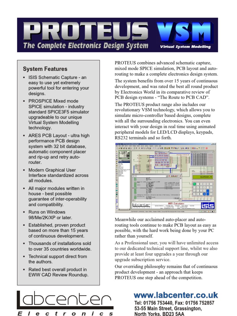 Introduction Proteus Spice Printed Circuit Board Schematic Design Examples Using The