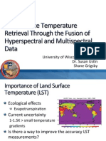 Land Surface Temperature Retrieval Through the Synthesis of Hyperspectral and Multispectral Data from the HyspIRI Preparatory Flight Campaign