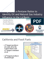 Using iso to n-Pentane Ratios to Identify Oil and Natural Gas Industry Influence in the LA Basin
