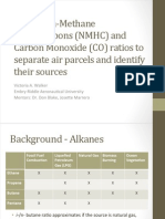 Using Non-Methane Hydrocarbons (NMHC) and Carbon Monoxide (CO) ratios to separate air parcels and identify their sources