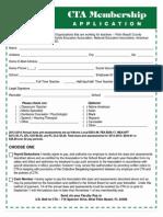 CTA Membership Application 2013-2014