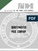 Fm10-11 Quartermaster Pack Company; Oct1952