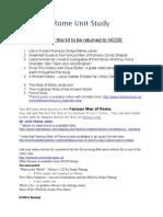 Ancient Rome Unit Study Guide