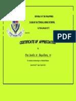 Volunteer Certificate