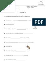 Spelling worksheet - Words with ey
