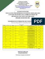 Informe de Inversiones Sector Educacion
