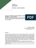 Do mau uso da inferência estatística aplicada às avaliações imobiliárias - Teoria e Exemplos