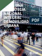 Hacia una Estrategia Nacional Integral de Movilidad Urbana