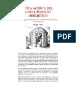 NOTA ACERCA DEL CONOCIMIENTO HERMÉTICO