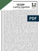 FICHA DE COMPRENSIÓN LECTORA LA GALLINA DEGOLLADA