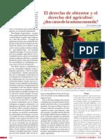 El Derecho Del Obtendor y El Derecho Del Agricultor