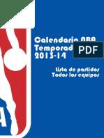Baloncesto / Calendario NBA 2013-14