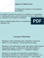 Sales Force Motivation