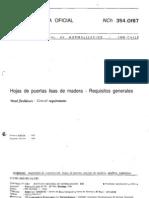 NCh 0354 of 1987 Hojas de Puertas Lisas de Madera - Requisit VIG 2004
