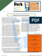 CEJ Summer 2013 Newsletter