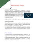 Especificaciones Tecnicas (Pavimentos)