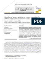 The effect of sensory activities on correct responding for children with autism