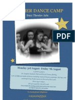 Summer Dance Camp Flyer