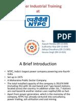 NTPC Industrial Training