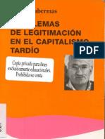 Problemas de legitimidad en el capitalismo tardío-Habermas