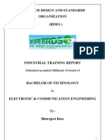 project report on rdso