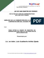 Analisis de La Corrupcion en Adquisiciones Estatales Peru