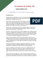 Historia de La Memoria de Andreu Nin