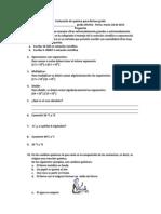 Evaluación de química para décimo grado Primer período 2013