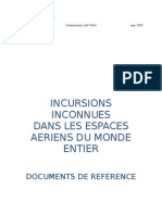 I - INCURSIONS INCONNUES