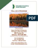 IAHE Fall 2013 Courses