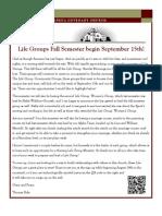 Newsletter - August 2013
