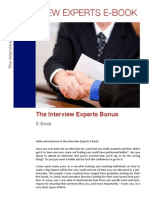 Interview Experts E-Book