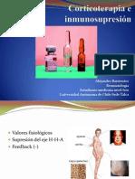 Corticoterapia e inmunosupresión