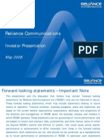 Www.rcom.Co.in Rcom Aboutus Ir PDF RCOM Presentation May 2008
