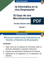 Caso Institucion Microfinanciera y Gerencia Informatica 2 2013