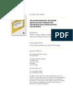 Benchmarking e-learning in UK Universities - the methodologies