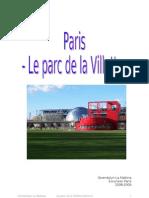 Paris - le parc de la Villette - présentation