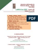 LAMPEA-Doc 2009 – numéro 18 / Vendredi 29 mai 2009